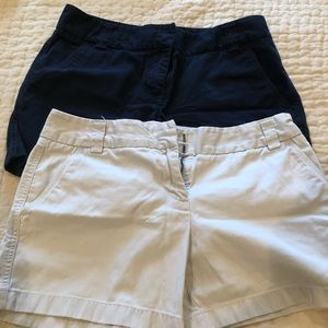 Navy and khaki shorts from JCrew